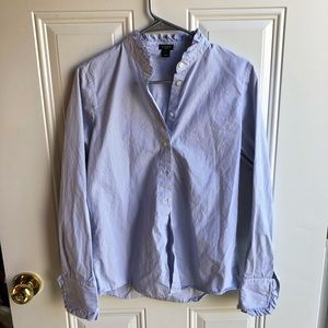 J.CREW Ruffle Button Up
